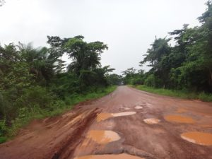 JG Afrika | Before photo showing the state of the road prior to rehabilitation and maintenance